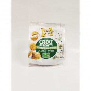 Croq'biscuits lentilles thym citronné 100g GO AB