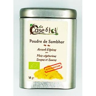 Poudre de Sambhar pour plats végétariens Soupes et Sauces, La Case d'Ici, Langon, Bretagne