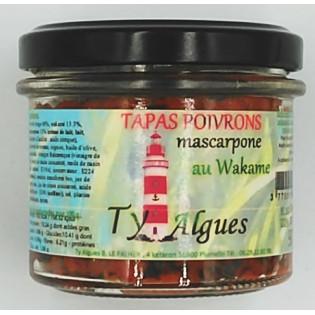 Tapas Poivrons mascaprone au Wakame, Ty Algues, Plumelin, Morbihan, Bretagne