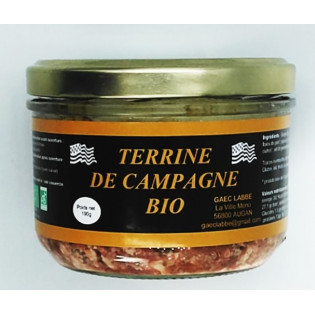 Terrine de Campagne Bio, produit par la GAEC LABBE, Augan, Pays de Ploermel, Morbihan, Bretagne