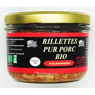 Rillettes pur porc bio à la provençale, GAEC LABBE, Augan, Pays de Ploermel, Morbihan, Bretagne