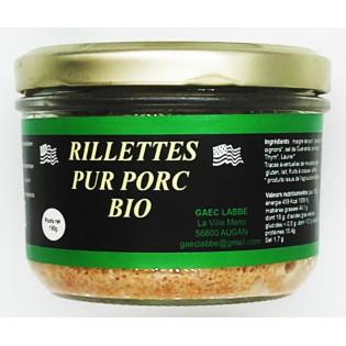 Rillettes pur porc bio 190g