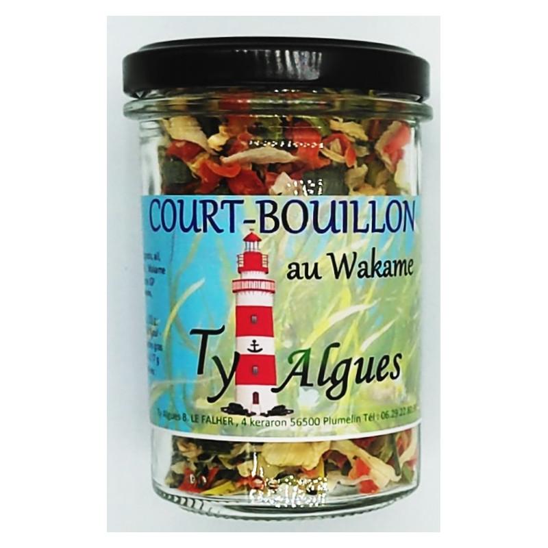 Court-bouillon au wakame, Ty Algues, Plumelin, Morbihan, Bretagne