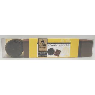 Réglette chocolat noir et lait, Abbaye La Joie Notre Dame, Campénéac