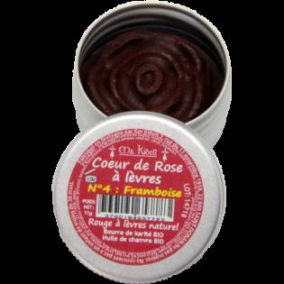 Coeur de rose à lèvre N°4 Framboise