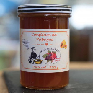 Confiture de Papaye produite à Plumelin, 56, Morbihan, Bretagne