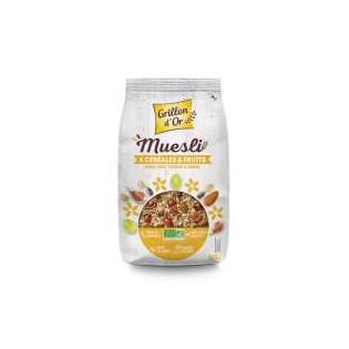 Muesli 4 céréales et fruits 500g GO AB