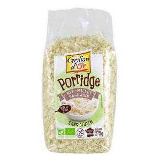 Porridge Riz Millet Sarrasin sans gluten 375g GO AB