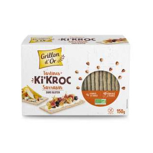 Tartines Ki'Kroc sarrasin sans gluten 150g GO AB