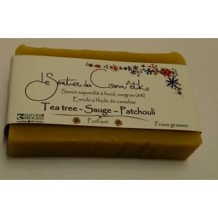 Savon Tea tree - Sauge - Patchouli 110g